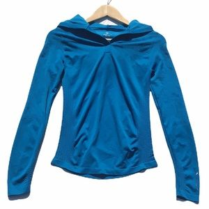 Climawear Turquoise Blue Hooded Performance Running Top